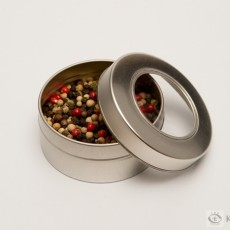 Silver Tin Clear Lid Canister
