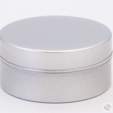 Silver Tin Pocket Canister