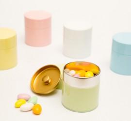 Nuri-Muji Color Tin Canister