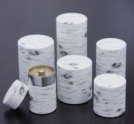 White Birch Tin Canister
